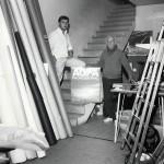 André Papillon  et Christophe au studio